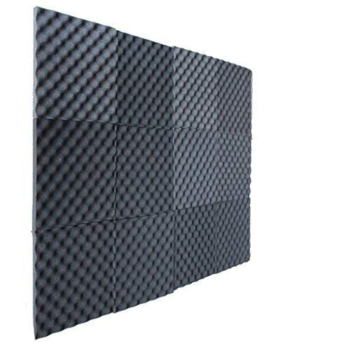 12 Pack Charcoal Slim egg crate foam acoustic foam tiles soundproofing foam panels sound insulation soundproof foam padding sound dampening Studio sound proof padding 3/4