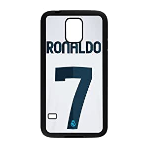 2015 Bestselling Ronaldo No.7 Phone Case for Sumsung S5 Black