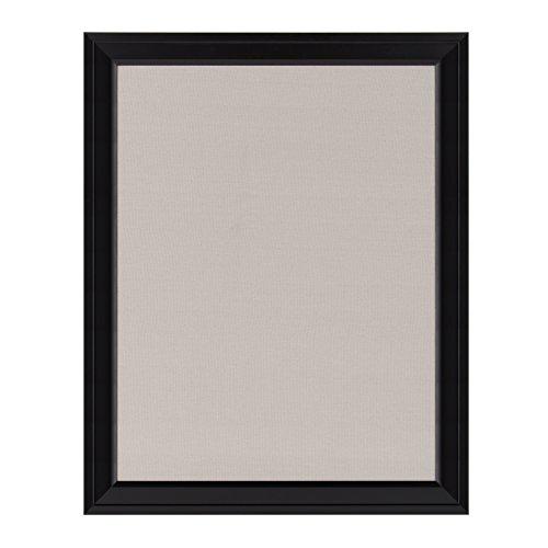 DesignOvation Bosc Framed Linen Fabric Pinboard, 23.5 x 29.5, Black