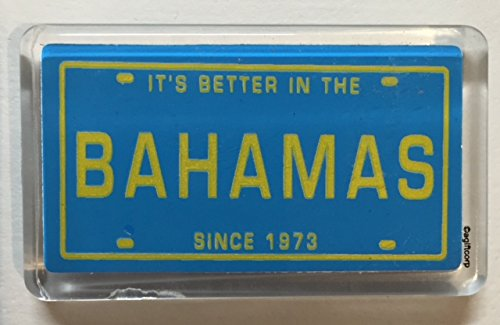 Bahamas License Plate Fridge Small Acrylic Collector's Souvenir Magnet 2