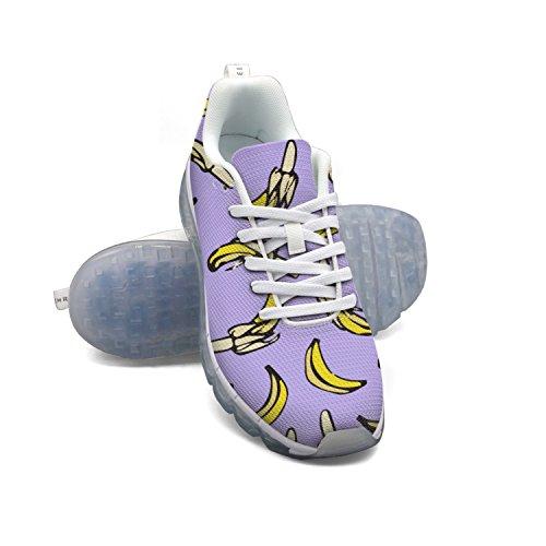 Faaerd Modelli Di Banane Viola Chiaro Scarpe Da Donna Traspirante Maglia Sneakers Cuscino Daria Scarpe Sportive Traspiranti Scarpe Da Corsa Atletiche