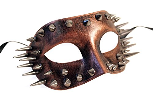 Thunder Market Roman Warrior Venetian Masquerade Costume Mask, Copper -