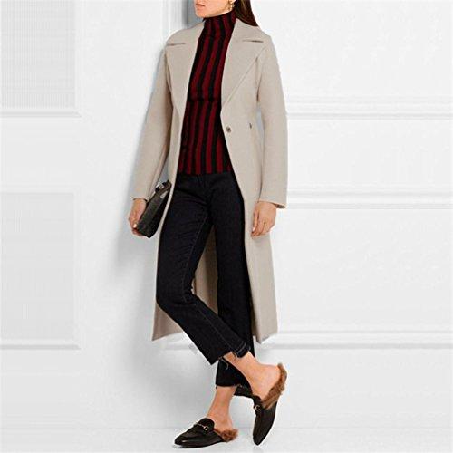 Rétro Long Femmes Gris Manches Hiver Blazer Longues Manteau Mode Wanyang Beige Elégante Tops Outwear A Classique Automne qtnx0Ha4