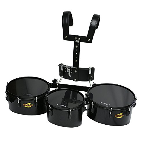Trixon Field Series Pro Marching Toms - Set of 3 - Black by Trixon Drums