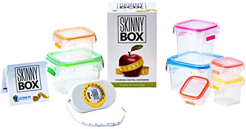 BEST Portion Control Containers 8 Pc Set for Diet & Weight Loss like 21 Day Fix Includes BONUS Body Fat Measuring Tape + Calorie Counter Exercise Tracking App + Dietitian Written Menus