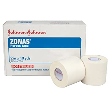 Zonas Porous Athletic Tape 2 X 10 Yds  (1 Roll) by Johnson & Johnson