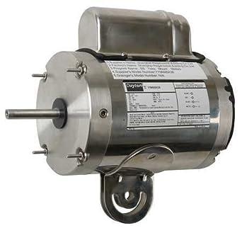 Dayton 12V774 1//2 HP Stainless Steel Washdown Motor 115V 1075 RPM