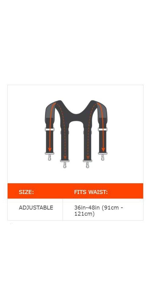 Ergodyne Arsenal 5560 Tool Belt Suspenders, Padded Shoulders, Adjustable by Ergodyne (Image #3)
