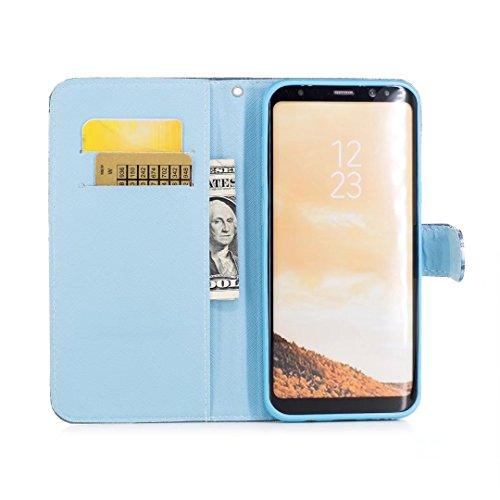 COWX Samsung Galaxy S8 Plus Hülle Kunstleder Tasche Flip im Bookstyle Klapphülle mit Weiche Silikon Handyhalter PU Lederhülle für Samsung Galaxy S8 Plus Tasche Brieftasche Schutzhülle