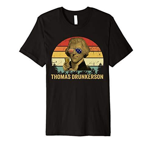 Thomas Drunkerson Vintage 4th of July Drinking Team Premium T-Shirt