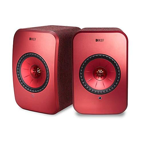 KEF LSX draadloze luidspreker Rood, actieve speakers | Airplay 2 | Music Streaming | Multiroom | Bluetooth | Spotify…