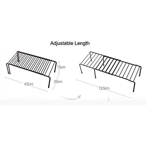 YJLGRYF Storage Shelf Expandable Shelf -Free-Standing Kitchen Shelf Kitchen Organizer Storage Rack
