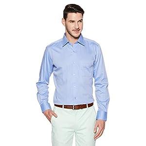 Raymond Men's Plain Regular Fit Formal Shirt