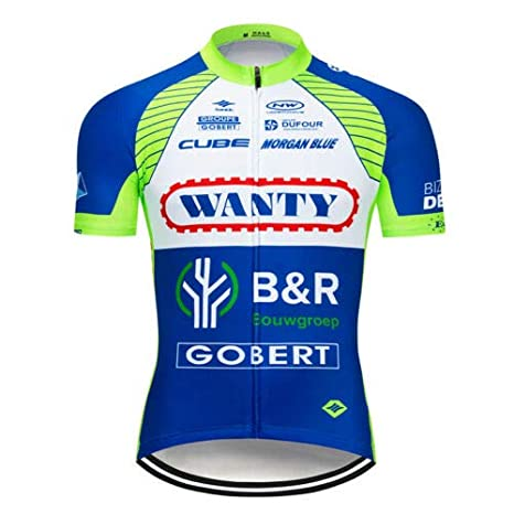 9f5a87e85 Image Unavailable. Image not available for. Color  FidgetFidget Men Cycling  Jersey Set 2018 Blue Bike Jerseys Bib Shorts Pants Race Shirt Pad S
