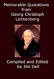 Memorable Quotations from Georg Christoph Lichtenberg