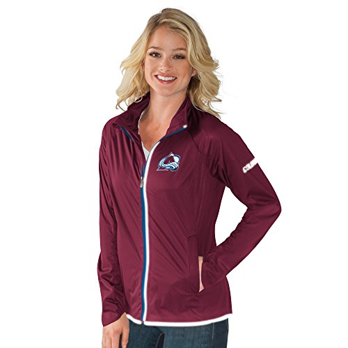 Colorado Avalanche Nhl Light - NHL Colorado Avalanche Women's Batter Light Weight Full Zip Jacket, Large, Maroon