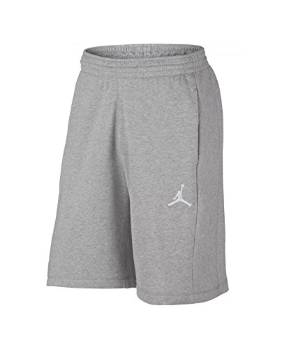 NIKE Men's Air Jordan AJ Flight Fleece Retro Sweat Shorts AA5613-063 Heather Gray (Small)