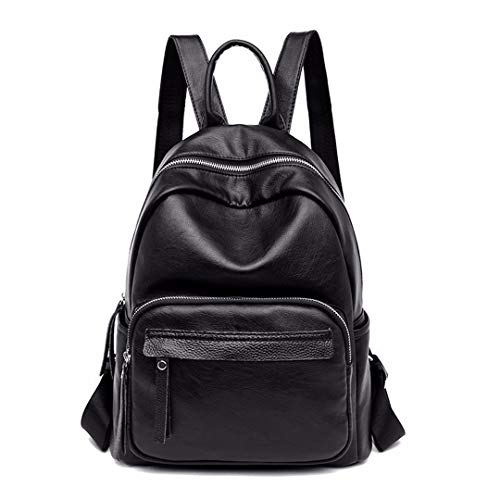 Mochila Mujer Backpacks Femenina Para Preppy De Black Cuero Niñas Estilo Mochilas Viaje frrEq