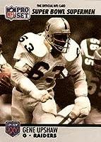 Gene Upshaw football card (Oakland Raiders) 1990 Pro Set #69 Super Bowl Supermen