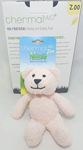 Thermal-Aid Mini Pink Bear Stuffed Natural