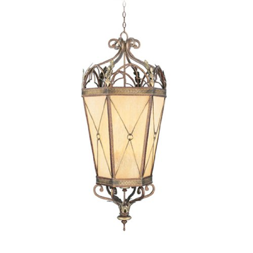 (Livex Lighting 8837-64 Bristol Manor 6-Light Foyer in Palacial Bronze with Gilded Accents)