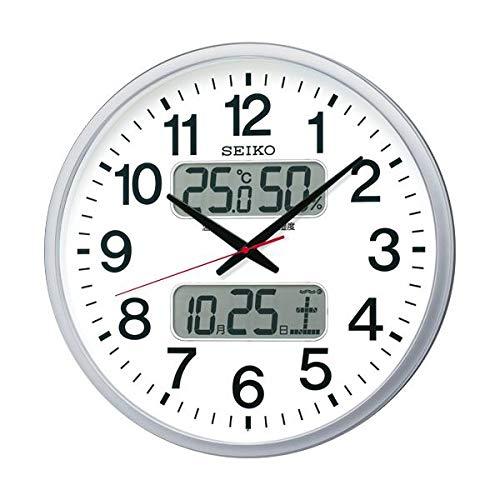 セイコークロック 電波掛時計オフィスタイプ カレンダー 温度湿度表示付 KX237S 1台 家電 生活家電 置き時計 掛け時計 14067381 [並行輸入品] B07MNV8RCR