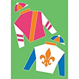 Fleur-de-lis Derby Silks Light Green 30 x 44 Rectangular Large House Flag