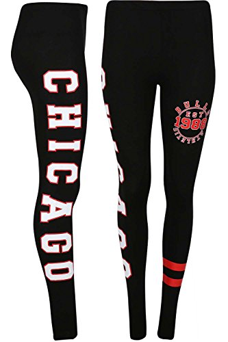 Womens Ladies Chicago Brooklyn 76 Workout Stripes Full Length Jeggings - Chicago Outlet Shops