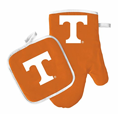 Oven Mitt and Pot Holder Set - Barbeque BBQ Kitchen Backyard Outdoors - NCAA - Tennessee Volunteers ()