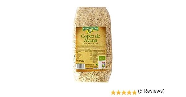 Hijas Del Sol Bio Copos Avena Bio - 500 gr - [Pack de 8]: Amazon.es: Alimentación y bebidas