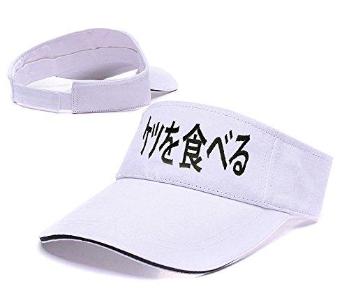 de Visera béisbol I Snapback bordado Lifa Visor Ass sombrero Gorro White gorra comer japonés agxqawSTP0