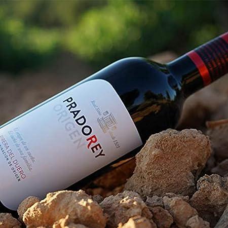 PRADOREY Roble Origen-Vino tinto - Roble- Ribera del Duero - 95% Tempranillo, 3% Cabernet sauvignon, 2% Merlot - Vino joven con ligero paso por barrica y tinaja - 12 Bot-0,75 L