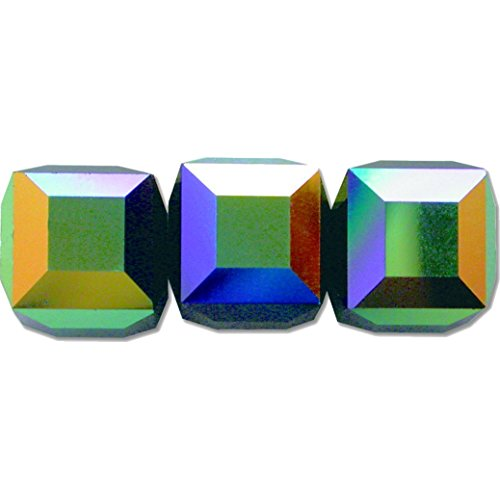 3 Jet AB Square Cube Swarovski Crystal Beads 5601 8mm (Square 5601 Cube Bead)