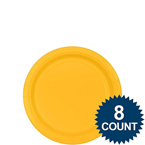 (Amscan 54015.09 Yellow Sunshine Paper Plates, 7'' 8ct, 8,)
