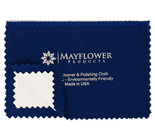 (Travel Polishing Cloth Made in USA for Cleaning Silver, Gold and Platinum Jewelry - NON TOXIC - Jewelry Cleaner - Size 7.5