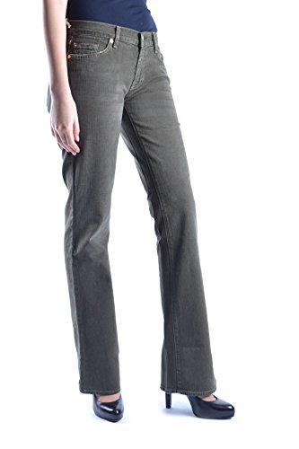 Jeans Verde Donna 7 All Cotone Mcbi004017o Mankind For gfaZpnt