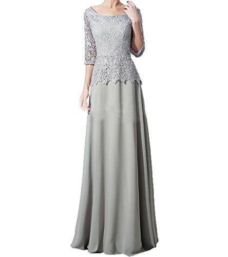 Charmant Lang Spitze Damen Brautmutterkleider Glamour 4 Mutterkleider Abendkleider Silber Langarm 3 Festlichkleider aBgrqwaS