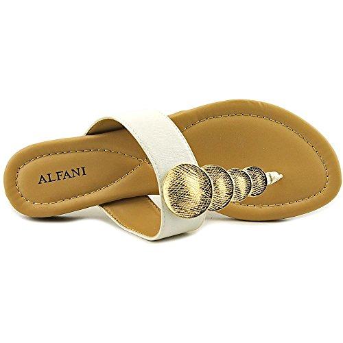 Alfani Womens Harlquin Split Toe Casual T-Strap Sandals White Lizard DN6vzlx