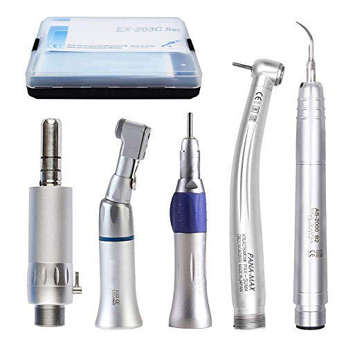 Dental Air Scaler Kit with Collet, Low High Speed Hand Tools 2Holes (High Fast Dental Speed)