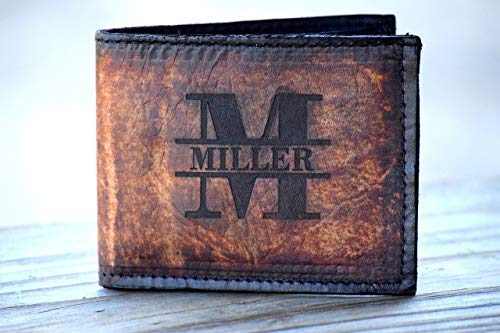 Personalized Leather Wallet - Personalized Wallet - Personalized Mens Wallet - Personalized Wallet for Men - Engraved Leather Wallet - Gift (Personalized Leather Engraved)