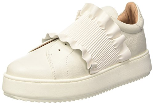 Sneaker Women's IT Pelle Bianca Twin Con White in US Rouches 41 11 Set Twinset UCnax