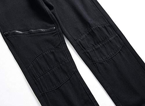 Jeans Per lannister Vita Dritti Bassa Qk Strappati Pantaloni Uomo Di Skinny Elasticizzati Tinta Ragazzo Unita Casuali A Nero xHzdq5qwR