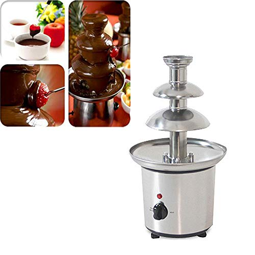 Wotefusi Chocolate Fountains 3-Tier Tower Chocolate Fondue Tower Stainless Steel 110V by Wotefusi (Image #1)