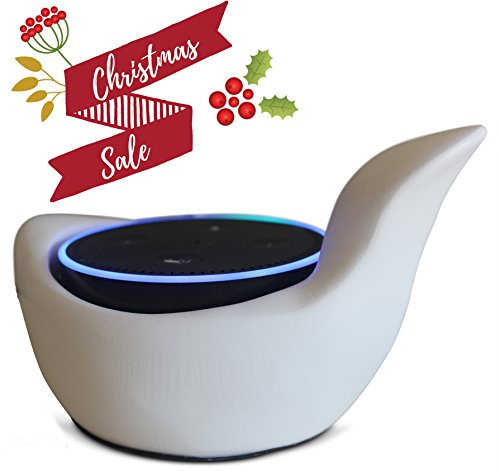 2nd Ave Lights (Amazon Alexa Echo Dot Holder Case Stand 2nd And 1st Generation Modern Art Dove Decorative Statue, Speaker Base)