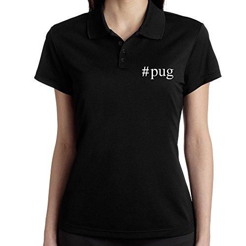 Teeburon Pug Hashtag Polo Donna