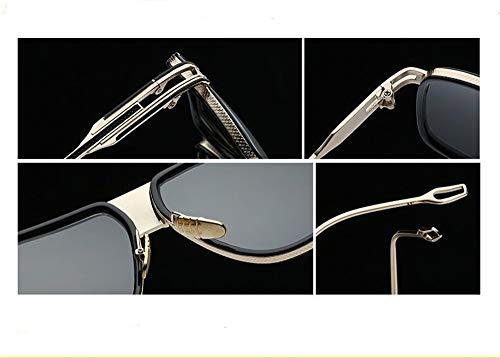 Metal Espejo de Rosado Sol Vintage Gafas Súper Mujer Sol Unisex Ligero Gafas Polarizadas para de Fliegend UV400 de con Montura Gafas Lente Hombre Retro 4RqUp5