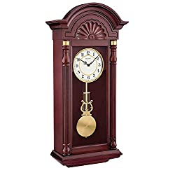 Bulova C1516 New Yorker Chiming Wall Clock, Mahogany