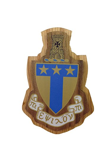 Alpha Tau Omega Fraternity Wood Crest Made of Wood for Paddle Mascot Board (3.5