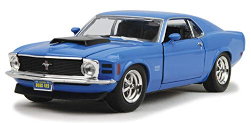 1970 Ford Mustang Boss 429, Blue - Motormax 73303 - 1/24 scale Diecast Model Toy Car -  Motor Max, MOT73303AC-BL