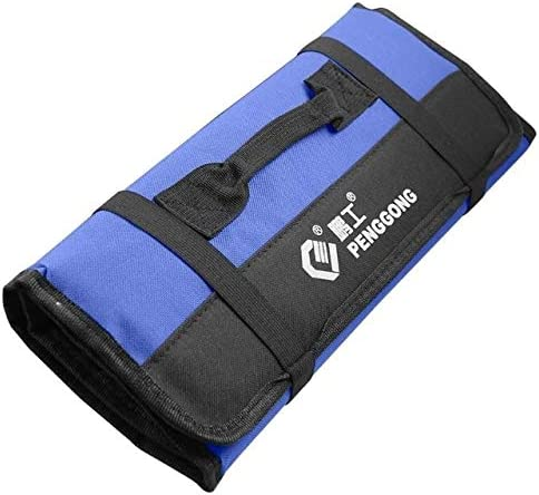 HZG 折りたたみロールバッグポータブルストレージツールキャリングバッグ多機能防水オックスフォード(レッド) 職人スペシャルパッケージ (Color : Blue)